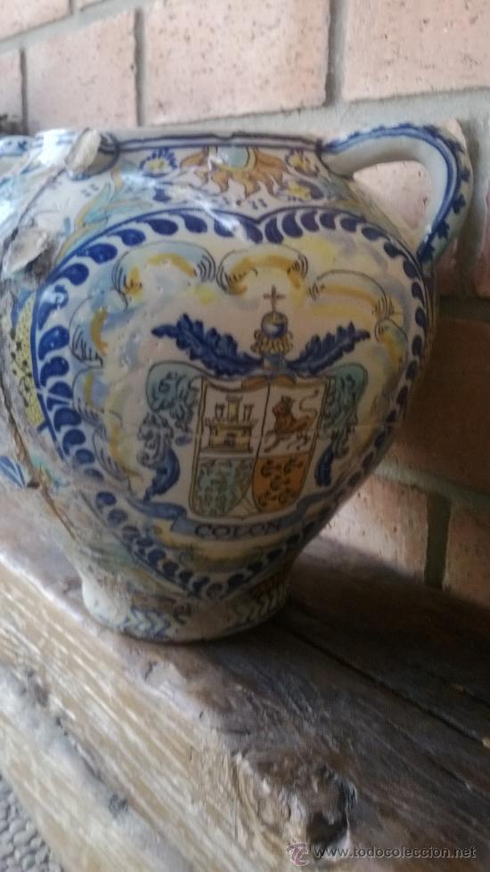 Antigüedades: jarron talavera leer - Foto 7 - 38744077