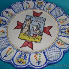 Antigüedades: PLATO DE CERAMICA DE TALAVERA, FIRMADO RAMOS TALAVERA. Lote 38755251
