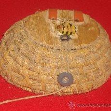 Antigüedades: ANTIGUO CESTILLO DE PAJA DE CENTENO. Lote 38773432