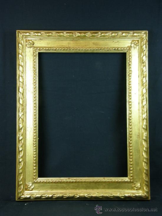 marco de estuco moldeado sobre base madera dora - Comprar Marcos ...