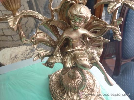 Antigüedades: CANDELABROS DE BRONCE PESO 3 KILOS 650 GRAMOS - Foto 4 - 35541980