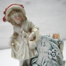 Antigüedades: ANTIGUO PALILLERO CERILLERO PORCELANA ALEMANA BISCUIT SIGLO XIX. Lote 38801360