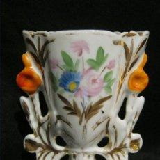 Antigüedades: ANTIGUO JARRÓN ISABELINO DE PORCELANA S. XIX. Lote 38802870