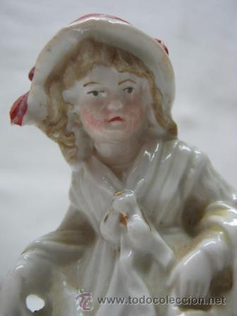 Antigüedades: Antiguo palillero porcelana alemana biscuit siglo XIX - Foto 3 - 38801360