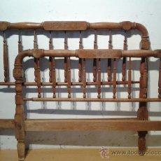Antigüedades: CAMA POPULAR EN MADERA DE HAYA. Lote 39408205
