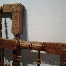 Antigüedades: CAMA POPULAR EN MADERA DE HAYA TORNEADA. Lote 39408518