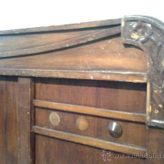 Antigüedades: CABECERO MODERNISTA EN MADERA DE NOGAL.. Lote 39408588