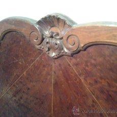 Antigüedades: CABECERO DE MADERA DE CAOBA AÑOS 40 Y PATA CHIPPENDALE. Lote 39408652
