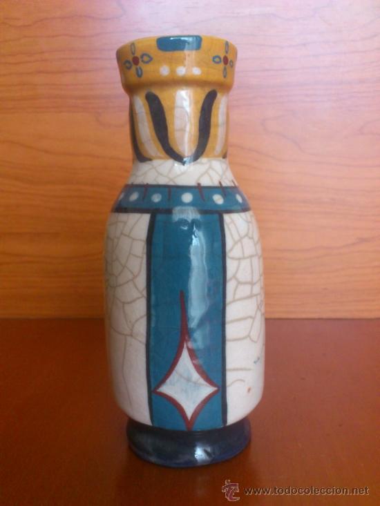 Antigüedades: Pareja de reyes medievales en terracota de esmalte vidriado sobre peana de madera ( La Morisma ) - Foto 18 - 38813625