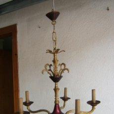 Antigüedades: LAMPARA COMEDOR BRONCE. Lote 38839335
