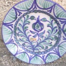 Antigüedades: VIEJO PLATO DE FAJALAUZA, PINTADO A MANO. Lote 38848094