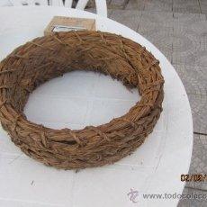 Antiguidades: QUESERA ESPARTO ANTIGUA ARTE PASTORIL, 29 CMS. Lote 38856854