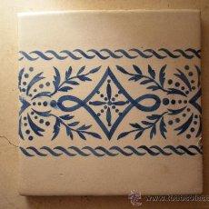 Antigüedades: AZULEJO ANTIGUO, MEDIDAS 20 X 20 CM. Lote 38872114
