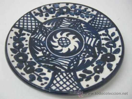 PLATO DECOLECCION CERAMICA MANISES FIRMA PASCUAL ZORRILLA - AZUL COBALTO (Antigüedades - Porcelanas y Cerámicas - Manises)