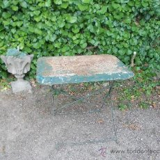 Antigüedades: RESTAURADA. MESA METÁLICA. HIERRO FORJADO.. Lote 38895841