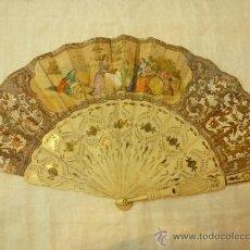 Antigüedades: ABANICO DE HUESO. Lote 38959190