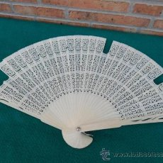 Antigüedades: ABANICO EN HUESO. Lote 38911169