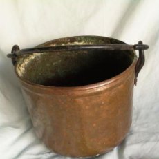 Antigüedades: CALDERO DE COBRE .13 CMS DE ALTURA,18 CMS DE BOCA. Lote 38928001