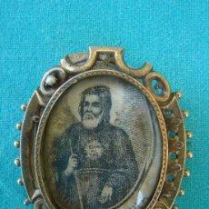 Antigüedades - RELICARIO DE PLATA DE SAN FRANCISCO DE PADUA DEL SIGLO XVIII - 39028767