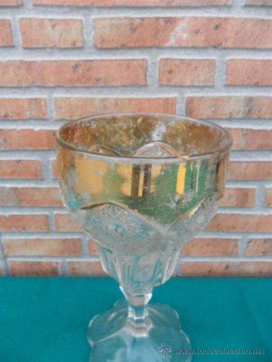 Antigüedades: copa grande con dorado,caliz - Foto 2 - 38942470