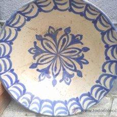 Antigüedades: ANTIGUA FUENTE DE FAJALAUZA PINTADA A MANO. PRECIOSA. Lote 38947569