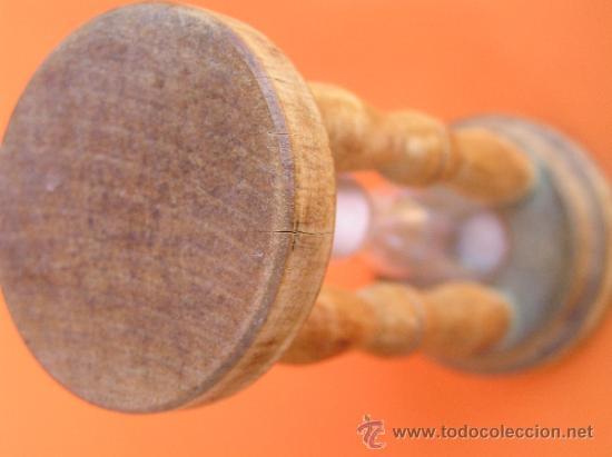 Antigüedades: ANTIGUO RELOJ DE ARENA. 10 cm. 3 minutos.Muy decorativo. - Foto 2 - 38968767