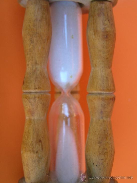 Antigüedades: ANTIGUO RELOJ DE ARENA. 10 cm. 3 minutos.Muy decorativo. - Foto 4 - 38968767