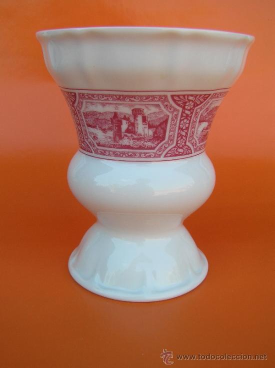 Antigüedades: JUEGO de porcelana HEINRICH Germany. Decorada en color malva. 1860. - Foto 12 - 35462093