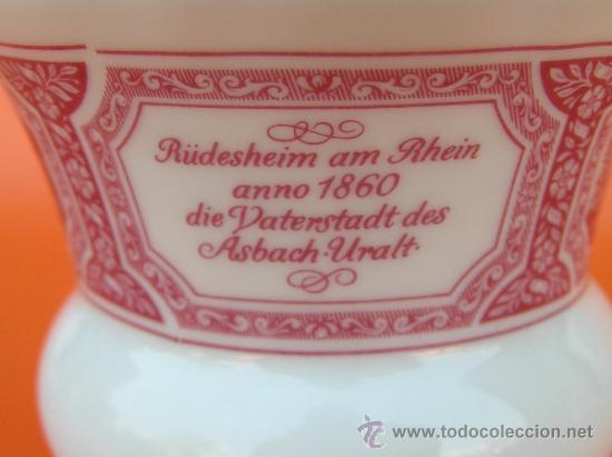 Antigüedades: JUEGO de porcelana HEINRICH Germany. Decorada en color malva. 1860. - Foto 14 - 35462093