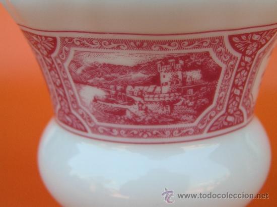 Antigüedades: JUEGO de porcelana HEINRICH Germany. Decorada en color malva. 1860. - Foto 15 - 35462093