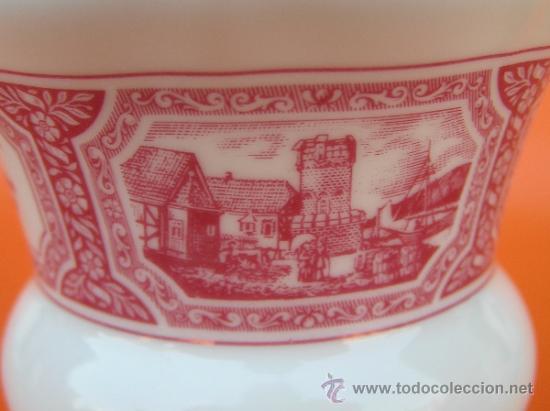 Antigüedades: JUEGO de porcelana HEINRICH Germany. Decorada en color malva. 1860. - Foto 17 - 35462093