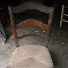 Antigüedades: SILLA ISABELINA DE MADERA DE CAOBA POR RESTAURAR. . Lote 38950089