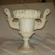 Antigüedades: ANTIGUA Y MAGNIFICA LAMPARA DE ALABASTRO CON FORMA DE GRAN COPA. C1950. Lote 38961204