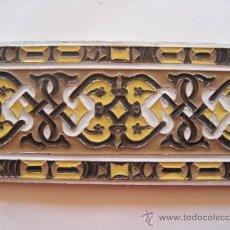 Antigüedades: AZULEJO ANTIGUO EN TECNICA DE ARISTA. SEVILLA. RAMOS REJANO.PPOS. SIGLO XX.. Lote 38983701