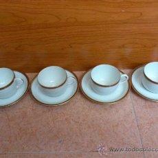 Antigüedades: JUEGO DE 4 SERVICIOS DE CAFE EN PORCELANA LIMOGES FRANCE W. G. & CO ( CIRCA 1900 / 1932 ). Lote 38994752