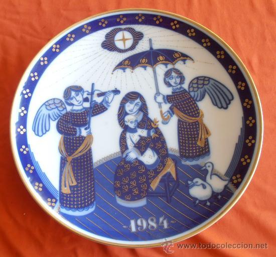 PLATO SANTA CLARA CONMEMORATIVO AÑO 1984 (Antigüedades - Porcelanas y Cerámicas - Santa Clara)