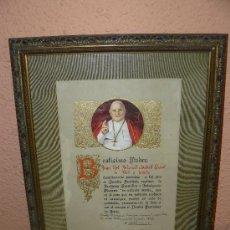 Antigüedades: DOCUMENTO DE BENDICIÓN E INDULGENCIA - FIRMADO .. Lote 38990640