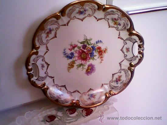 Plato porcelana pintado a mano marca p t germ comprar for Marcas de porcelana