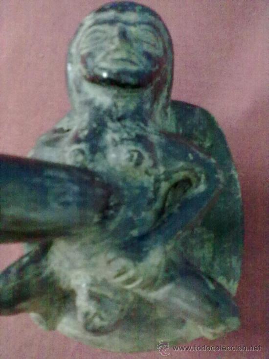 Antigüedades: VASIJA MOCHICA BOTELLA PARTURIENTA MUJER PARIENDO DANDO A LUZ CERAMICA TIERRA NEGRA - Foto 5 - 39010264
