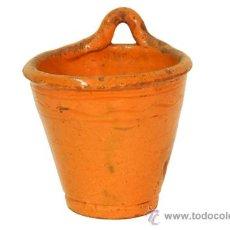 Antigüedades: CUCHARERO EN CERAMICA. SIGLO XIX. Lote 24204182