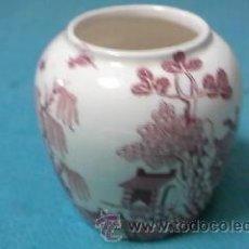 Antigüedades: RARO JARRÓN DE PORCELANA INGLESA MASON´S - PATENT IRONSTONE CHINA ENGLAND VERSIÓN ROJO.. Lote 39010424