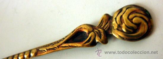 Antigüedades: BONITA CUCHARA DORADA DE COLECCION - Foto 7 - 39042098