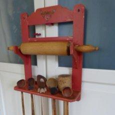 Utensilios de cocina en madera antiguos comprar for Utensilios del hogar