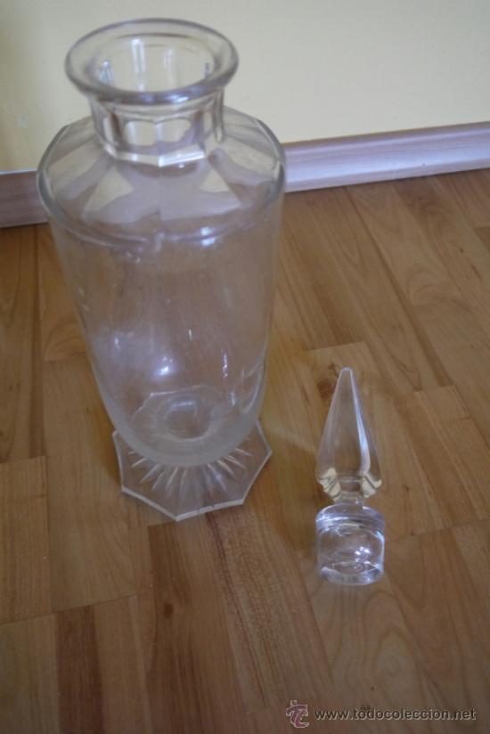 ANTIGÜO BOTE DE FARMACIA EN CRISTAL SOPLADO (Antigüedades - Cristal y Vidrio - Farmacia )