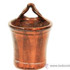 Antigüedades: CUCHARERO DE CERAMICA POPULAR DECORADA SIGLO XIX. Lote 39023068