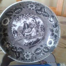 Antigüedades: PLATO CON PRIMOROSA ESCENA EPOCA ROMANTICISMO. SOCIÉTÉ CERAMIQUE MAESTRICHT. HOLANDA. 1863-90. Lote 39033401