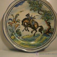 "Antigüedades: ""NIVEIRO"" PLATO CERAMICA TALAVERA DE LA REINA "" JINETE"". Lote 39075490"