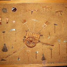 Antigüedades: APEROS.CUADRO DE APEROS DE LABRANZA. Lote 39053965