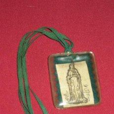 Antigüedades: ANTIGUO ESCAPULARIO - 4X4.5 CM.. Lote 39060044