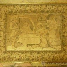 Antigüedades: TAPIZ ENMARCADO ANTIGUO. Lote 39061509